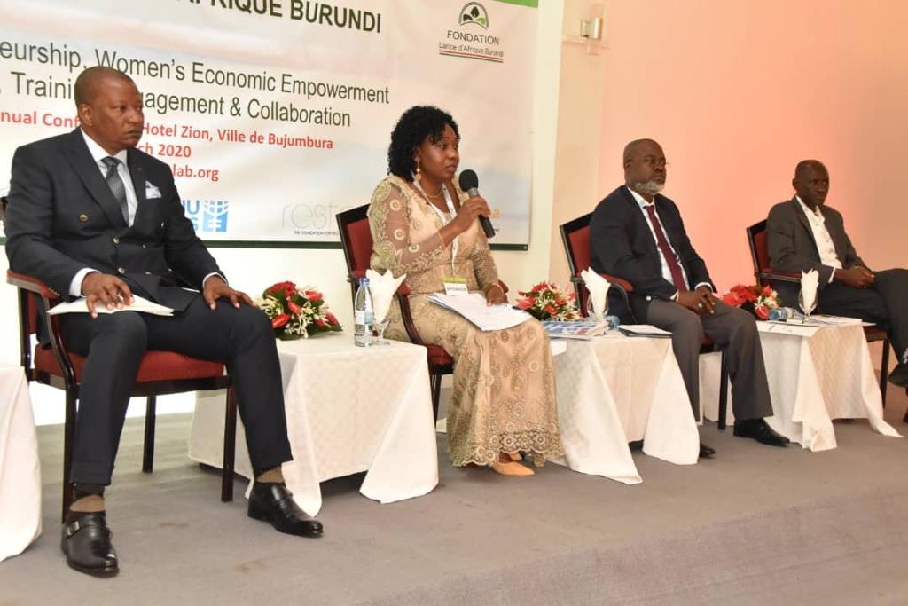 Mrs Ginette Karirekinyana, Vice-President CFCIB